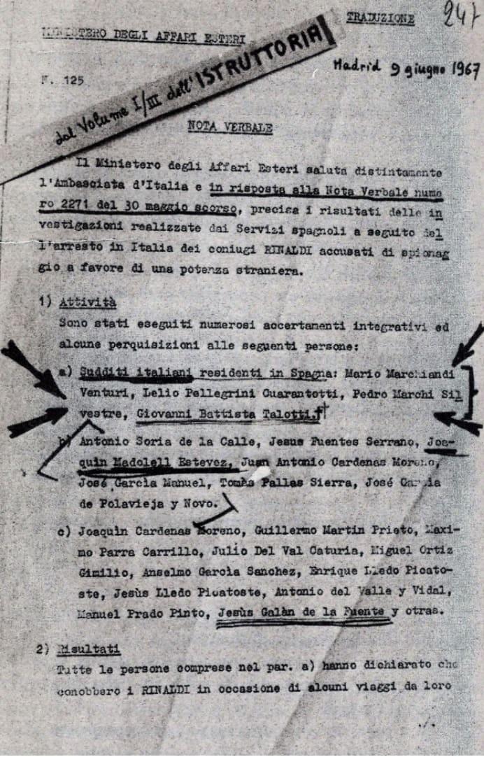Uno de los archivos obtenidos fruto de la investigación de Claudio Reig para escribir 'El espía que burló a Moscú'