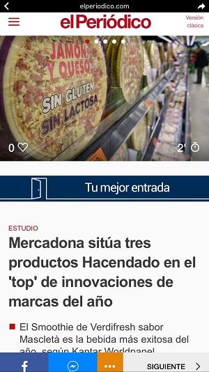 El Periódico es uno de los medios españoles que apuesta por Instant Articles