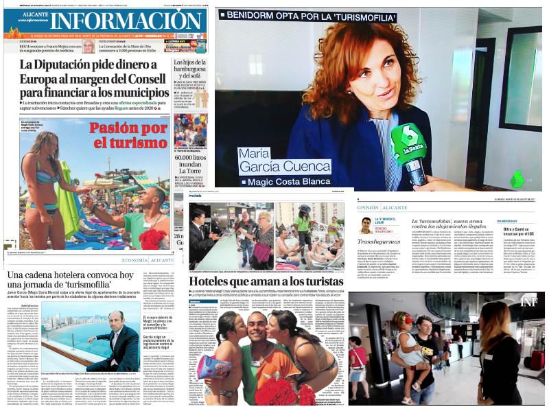 Turismofilia en los medios de comunicación gracias a la acción llevada a cabo por Magic Costa Blanca. Comunicada y coordinada por su agencia de comunicación en Alicante para toda España: ComunicAlicante.