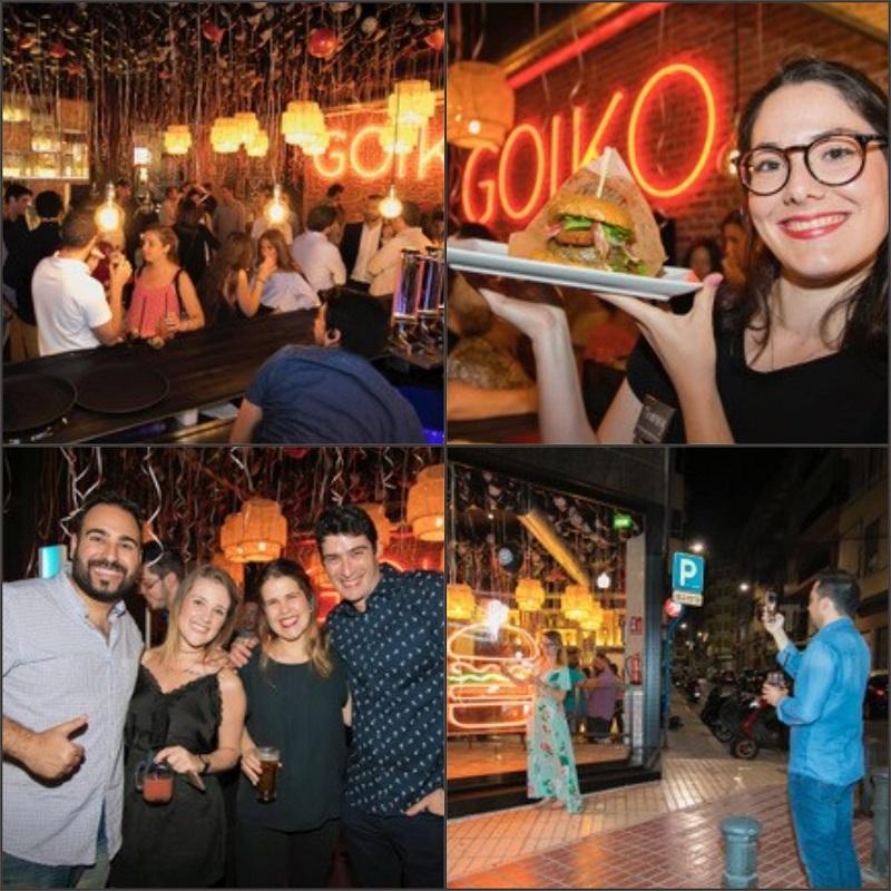 La fotografía para actos y eventos en Alicante tuvo un buen ejemplo en el reportaje realizado para la inauguración del restaurante Goiko Grill en la ciudad