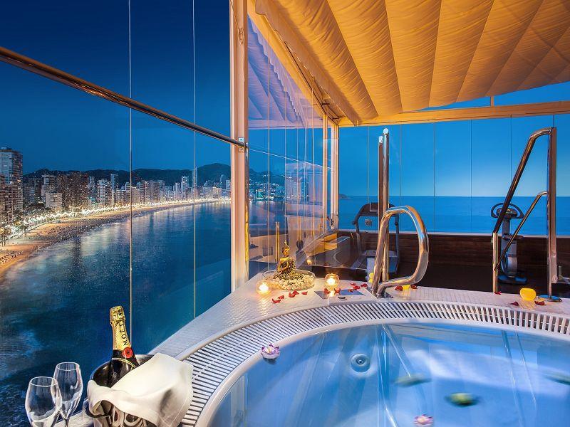 Espectaculares vistas del hotel Villa Venecia en Benidorm
