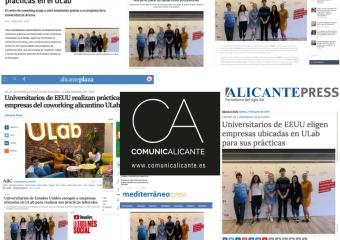 El programa internacional de estudiantes americanos de ULab, en la prensa
