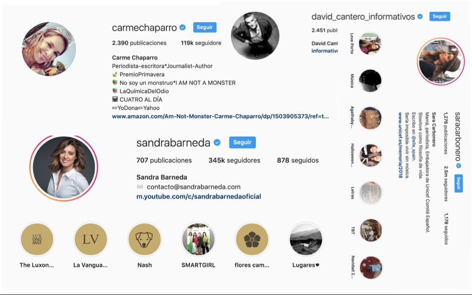 Periodistas influyentes en redes sociales