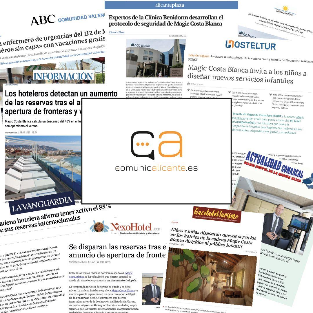 Comunicación de empresa - Clipping prensa Magic Costa Blanca
