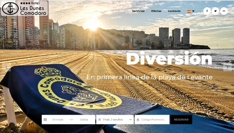 Diseño web Les Dunes Benidorm