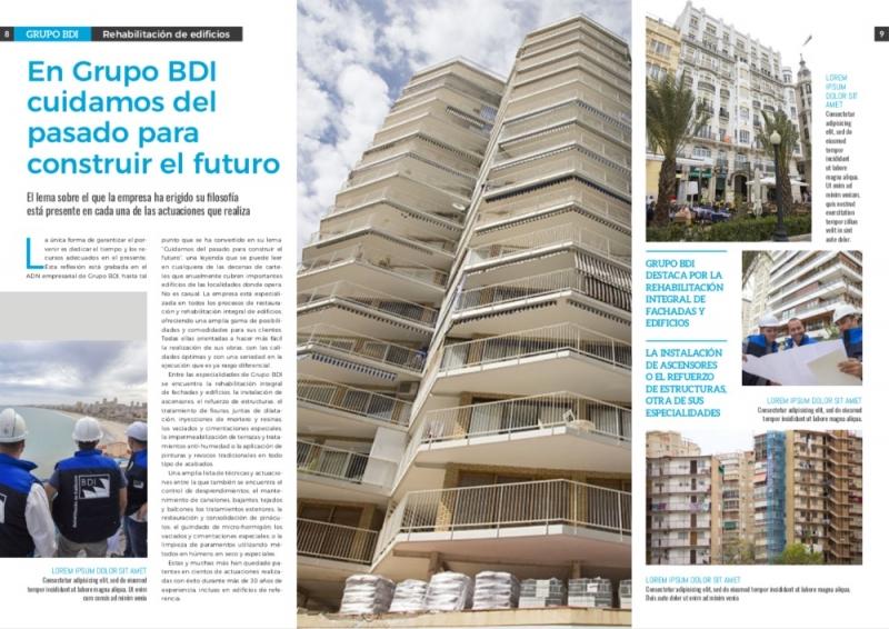 Diseño y redacción de revista corporativa para Grupo BDI.