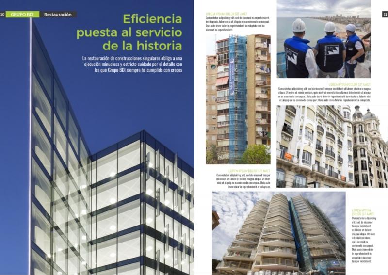 Maquetación de revista corporativa para Grupo BDI.