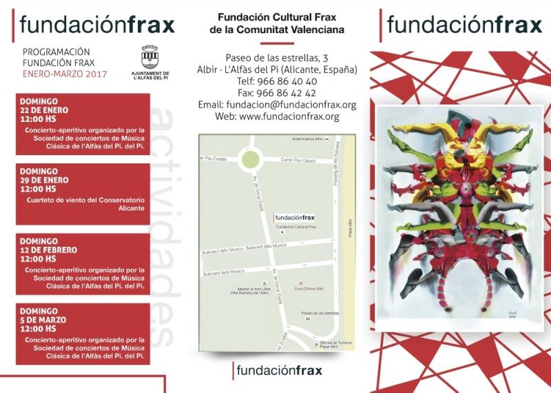 Diseño y redacción de tríptico para Fundación Frax.